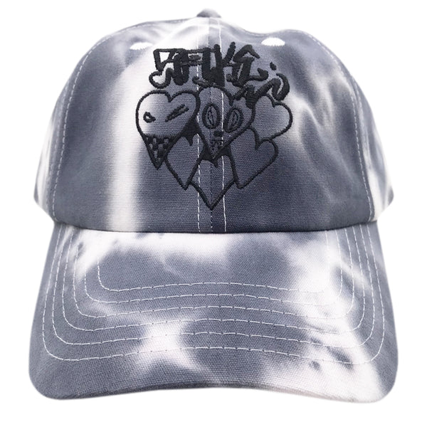 Hearts Dad Cap Tie Dye Dark Blue