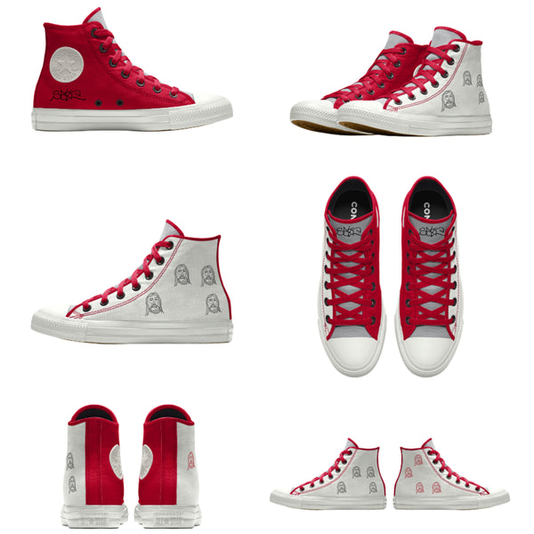 Chuck Taylor Sake Custom Red White