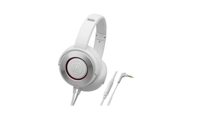 Audio Technica ATH-WS550iS Portable Solid Bass Series Headphones (WH - White), Audio Technica - HeadfiAudio