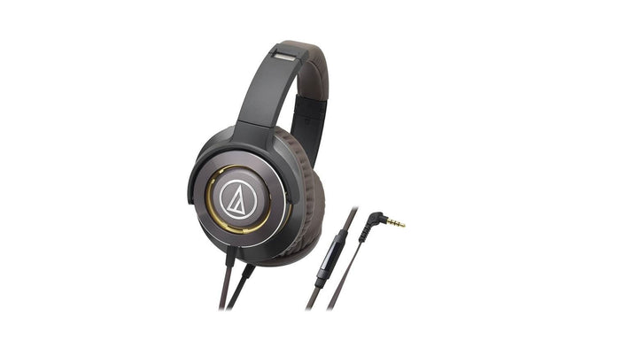 Audio Technica ATH-WS770iS Solid Bass® Over-Ear Headphones (Gun Metal), Audio Technica - HeadfiAudio