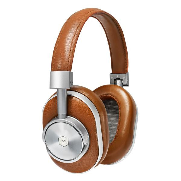 Master and Dynamic MW60S2 Foldable Wireless Over-Ear Headphones (Silver/ Brown), Master and Dynamic - HeadfiAudio