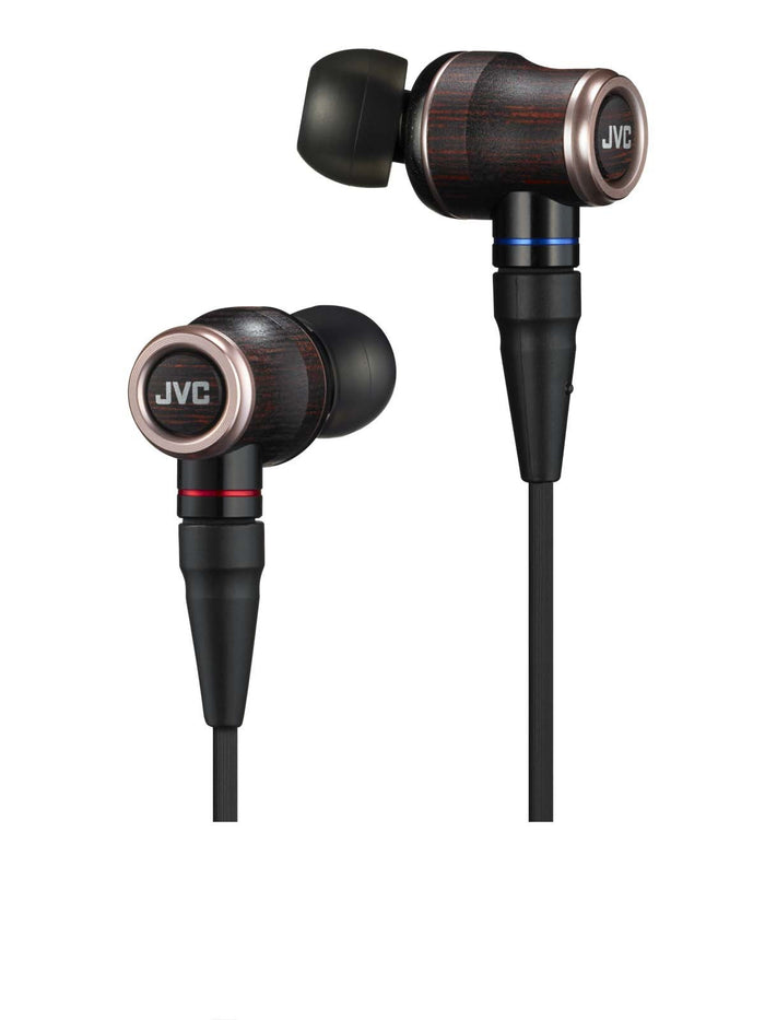 JVC HA-FW02 Wood Dome Hi-Resolution Audio Inner-Ear Headphones, JVC - HeadfiAudio