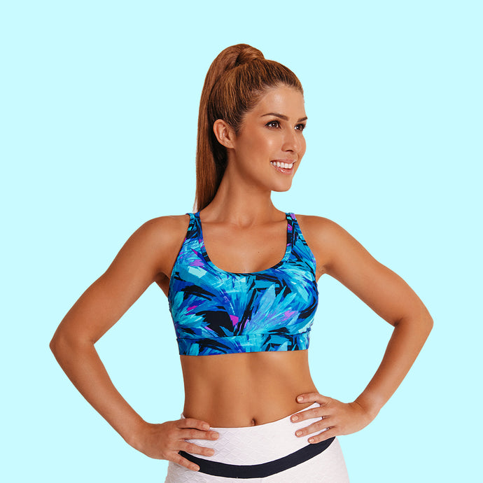 BLUE WAVE SPORTS BRA