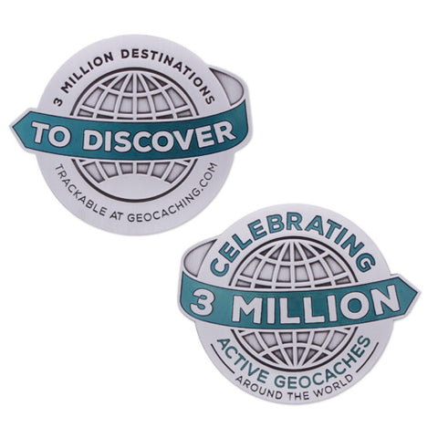 3 Million Geocaches Geocoin- Antique Silver