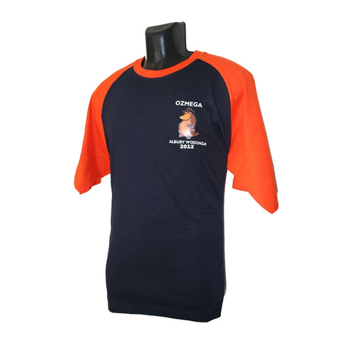 OzMega Event T-Shirt (Navy/Orange)