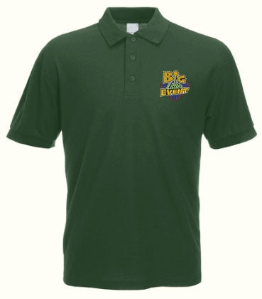 Big Little Event Polo Shirt (Unisex Green) for geocaching