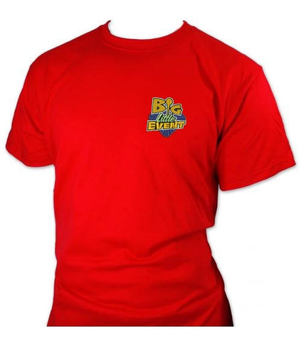 Big Little Event T-Shirt (Unisex Red) for geocaching