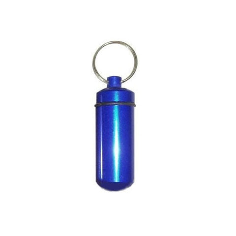 Bison tube capsule (Blue) for geocaching