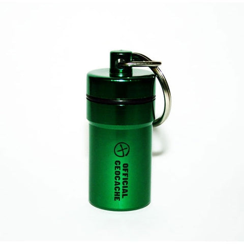 Small Aluminium Cache Container (Green)