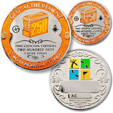 250 Finds Geo-Achievement™ Award Set for geocaching