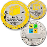 500 Finds Geo-Achievement™ Award Set for geocaching