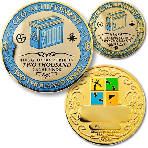 2000 Finds Geo-Achievement™ Award Set for geocaching