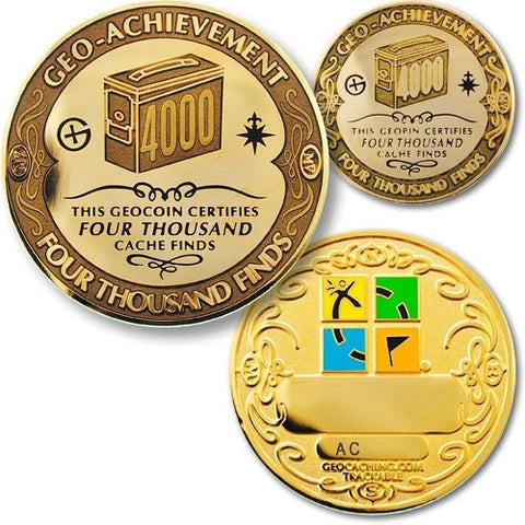 4000 Finds Geo-Achievement™ Award Set for geocaching