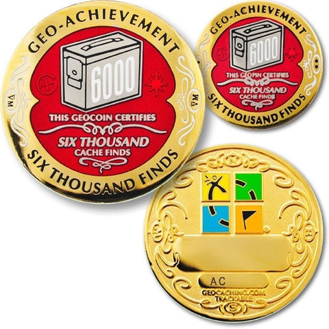 6000 Finds Geo-Achievement™ Award Set for geocaching