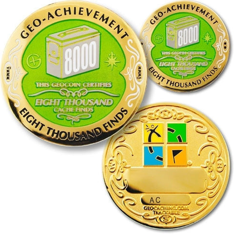 8000 Finds Geo-Achievement™ Award Set for geocaching