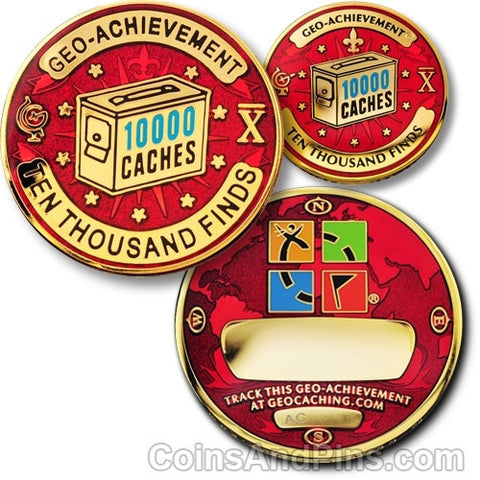 10000 Finds Geo-Achievement™ Award Set for geocaching