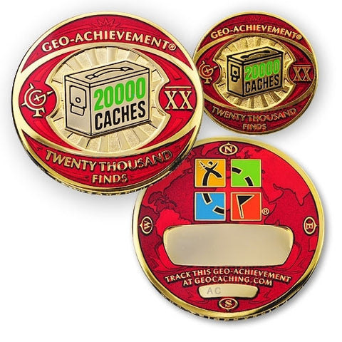 20000 Finds Geo-Achievement™ Award Set for geocaching