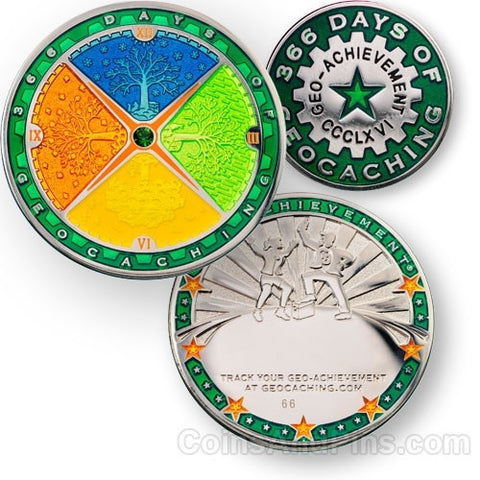 366 Days Geo-Achievement™ Award Set for geocaching