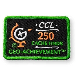 250 Finds Geo-Achievement™ Patch for geocaching