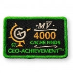 4000 Finds Geo-Achievement™ Patch for geocaching