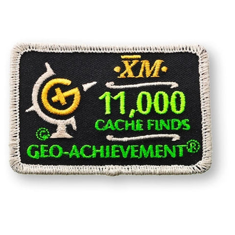 11,000 Finds Geo-Achievement™ Patch for geocaching
