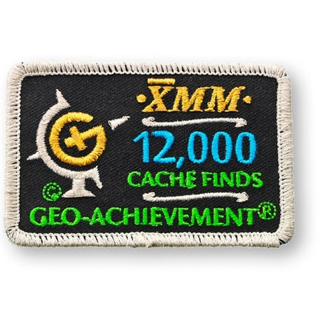12,000 Finds Geo-Achievement™ Patch for geocaching