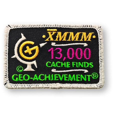 13,000 Finds Geo-Achievement™ Patch for geocaching