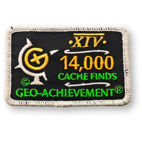 14,000 Finds Geo-Achievement™ Patch for geocaching