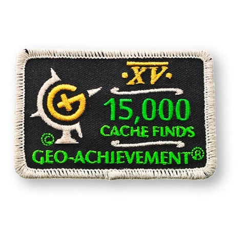 15,000 Finds Geo-Achievement™ Patch for geocaching