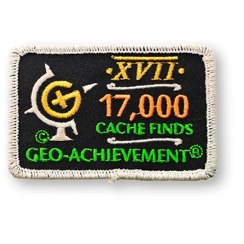 17,000 Finds Geo-Achievement™ Patch for geocaching