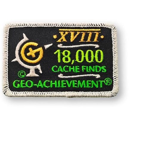 18,000 Finds Geo-Achievement™ Patch for geocaching