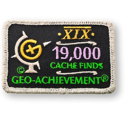 19,000 Finds Geo-Achievement™ Patch for geocaching