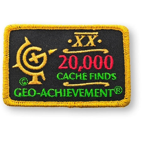 20,000 Finds Geo-Achievement™ Patch for geocaching