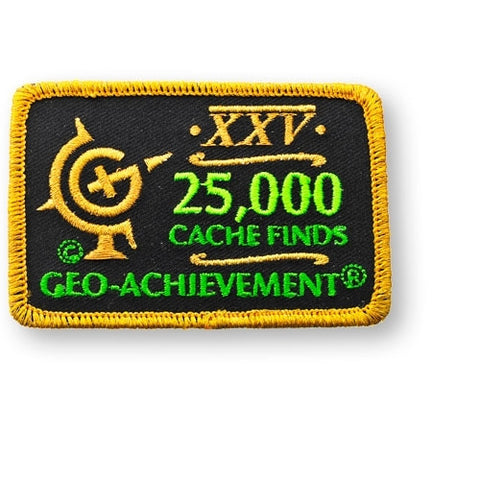 25,000 Finds Geo-Achievement™ Patch for geocaching
