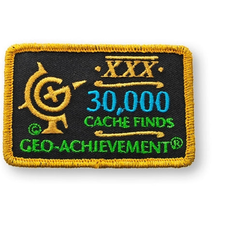 30,000 Finds Geo-Achievement™ Patch for geocaching