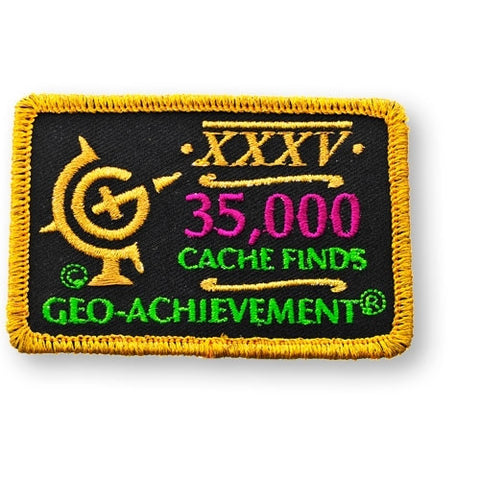 35,000 Finds Geo-Achievement™ Patch for geocaching