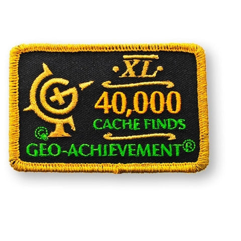 40,000 Finds Geo-Achievement™ Patch for geocaching