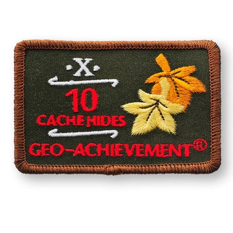 10 Hides Geo-Achievement™ Patch for geocaching