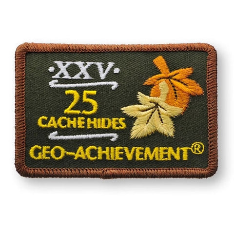 25 Hides Geo-Achievement™ Patch for geocaching