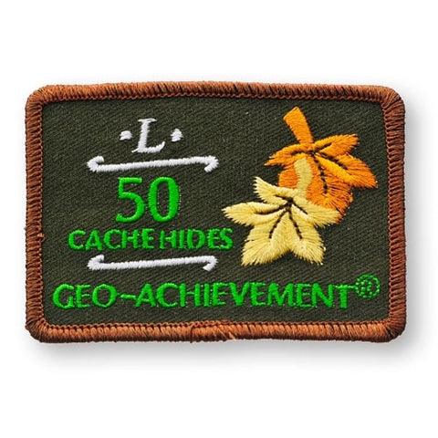50 Hides Geo-Achievement™ Patch for geocaching