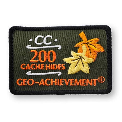 200 Hides Geo-Achievement™ Patch for geocaching