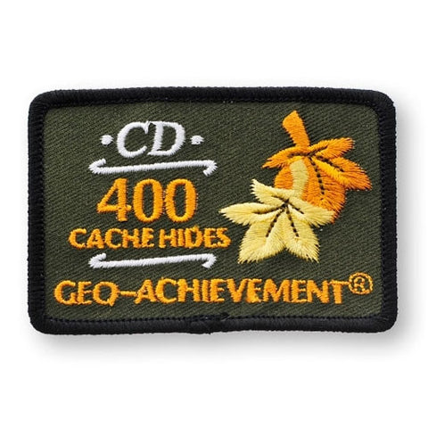 400 Hides Geo-Achievement™ Patch for geocaching