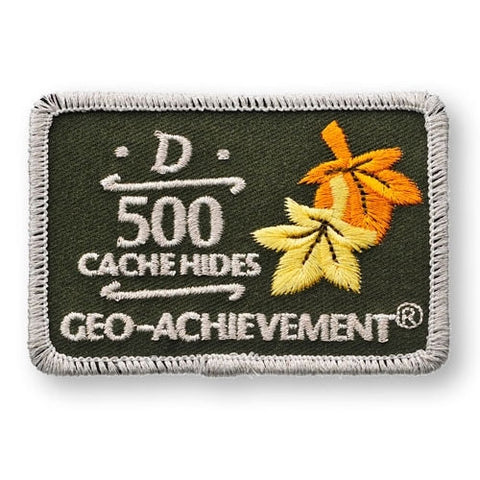 500 Hides Geo-Achievement™ Patch for geocaching