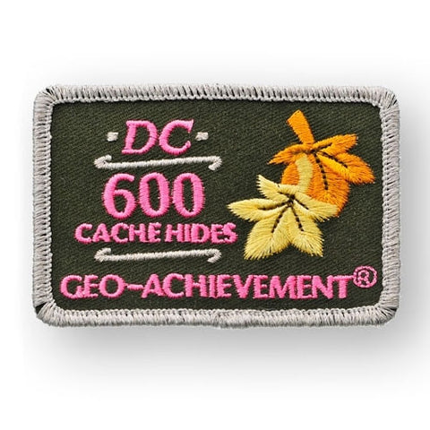 600 Hides Geo-Achievement™ Patch for geocaching