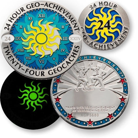 24 in 24 Geo-Achievement™ Award Set for geocaching