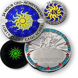 48 in 24 Geo-Achievement™ Award Set for geocaching