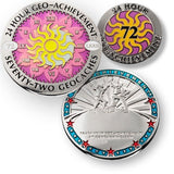 72 in 24 Geo-Achievement™ Award Set for geocaching