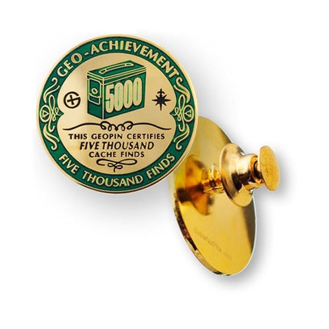 5000 Finds Geo-Achievement™ Pin for geocaching
