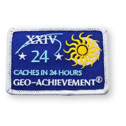 24 Finds in 24 Hours Geo-Achievement™ Patch for geocaching