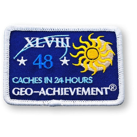 48 Finds in 24 Hours Geo-Achievement™ Patch for geocaching